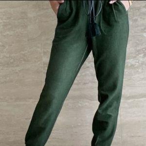SOMETHING NAVY Meghan Paperbag Sweatpants Green M
